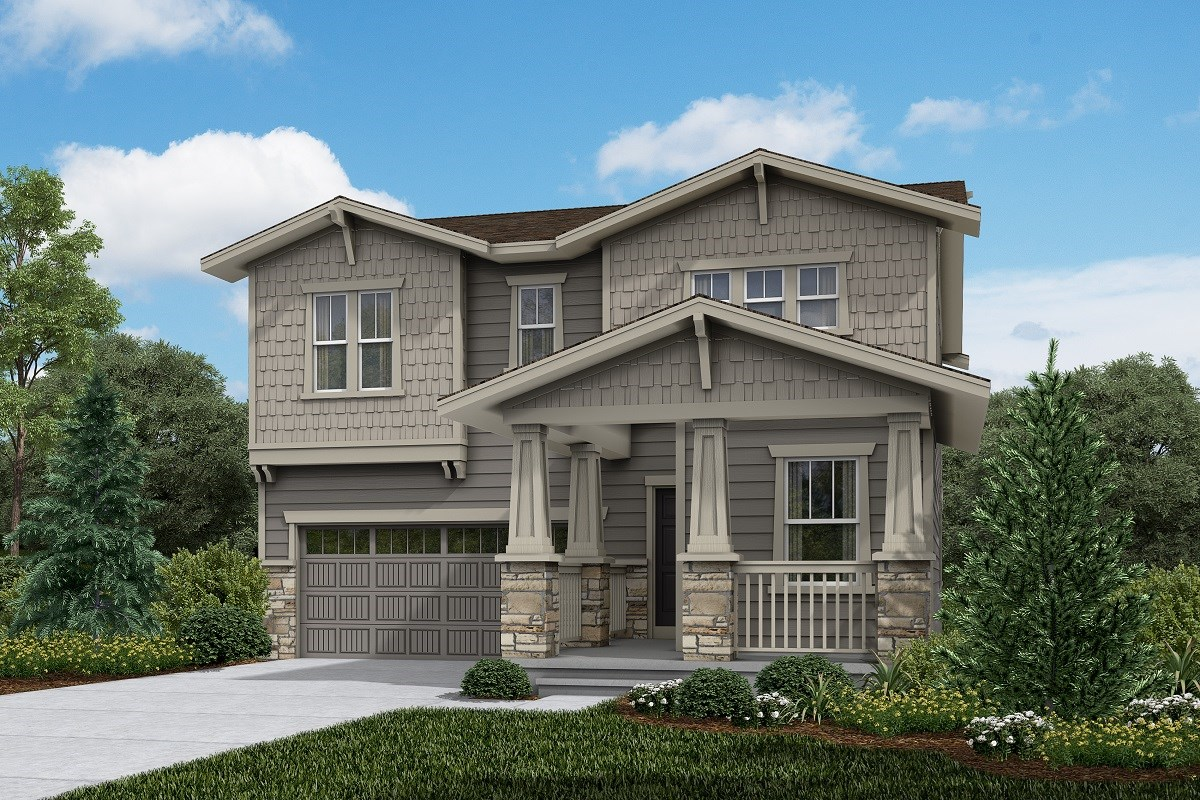 New Homes in Brighton, CO - The Villages at Prairie Center  Memory - Elevation B