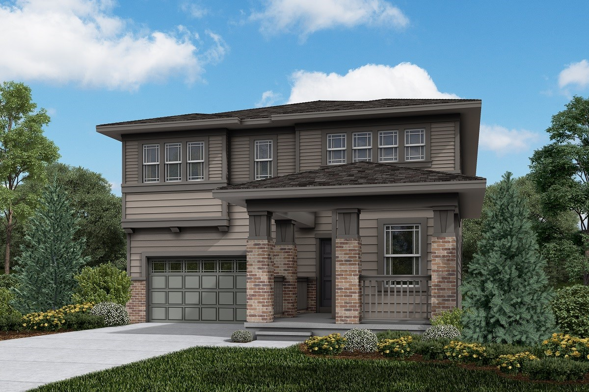 New Homes in Brighton, CO - The Villages at Prairie Center  Memory - Elevation C