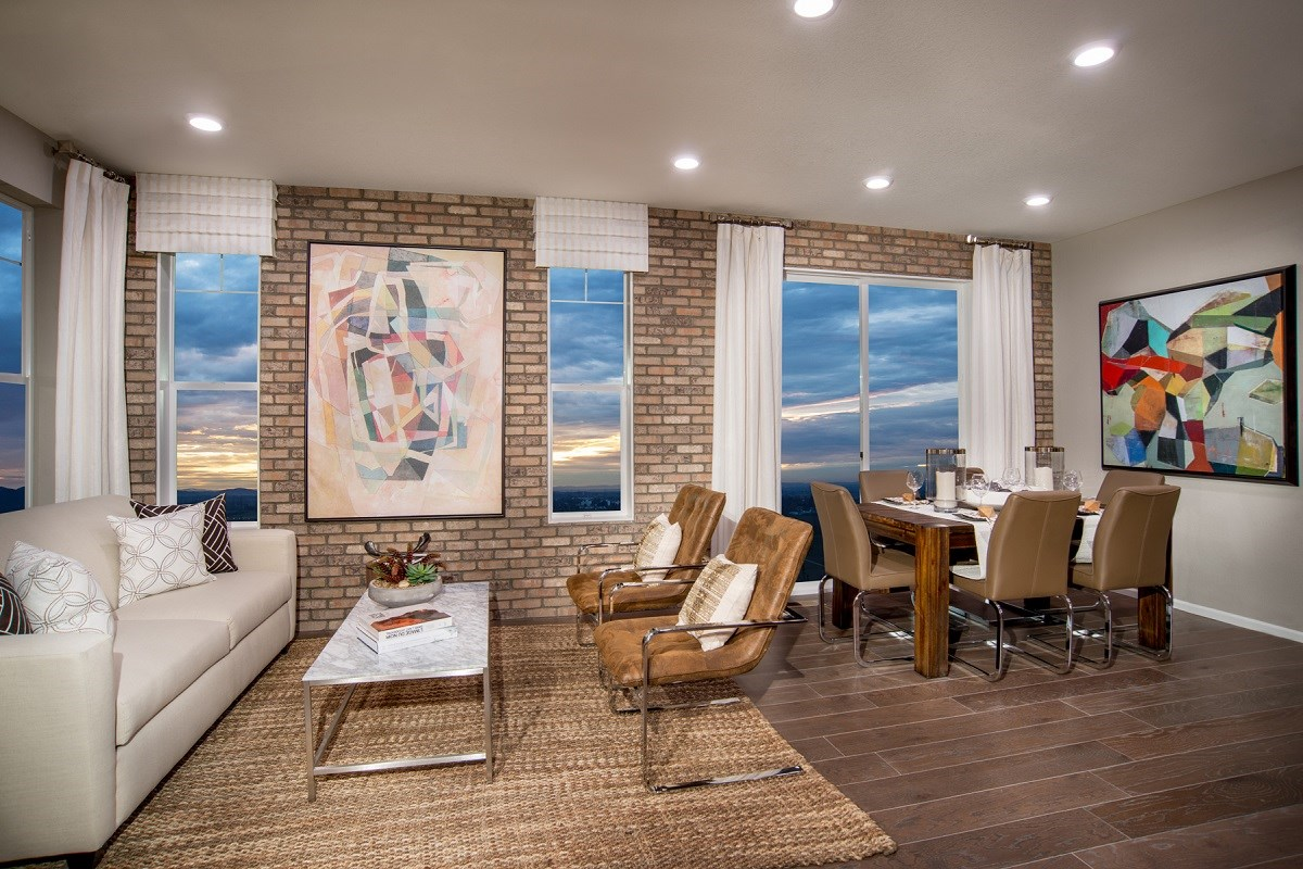 New Homes in Aurora, CO - The Villas at Copperleaf Cypress Great Room + Dining Room