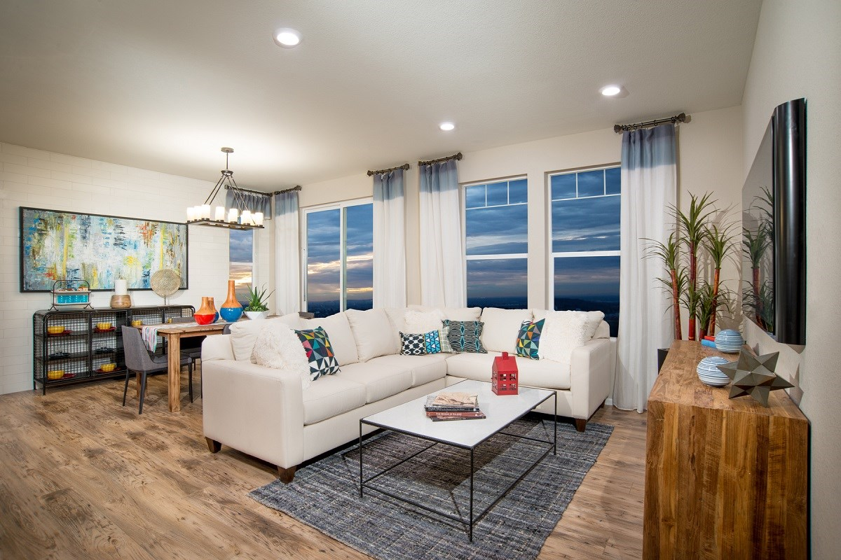 New Homes in Aurora, CO - The Villas at Copperleaf Redwood Great Room