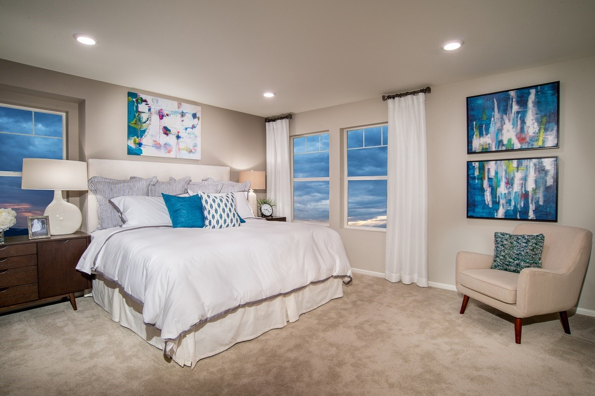 New Homes in Aurora, CO - The Villas at Copperleaf Redwood Master Bedroom