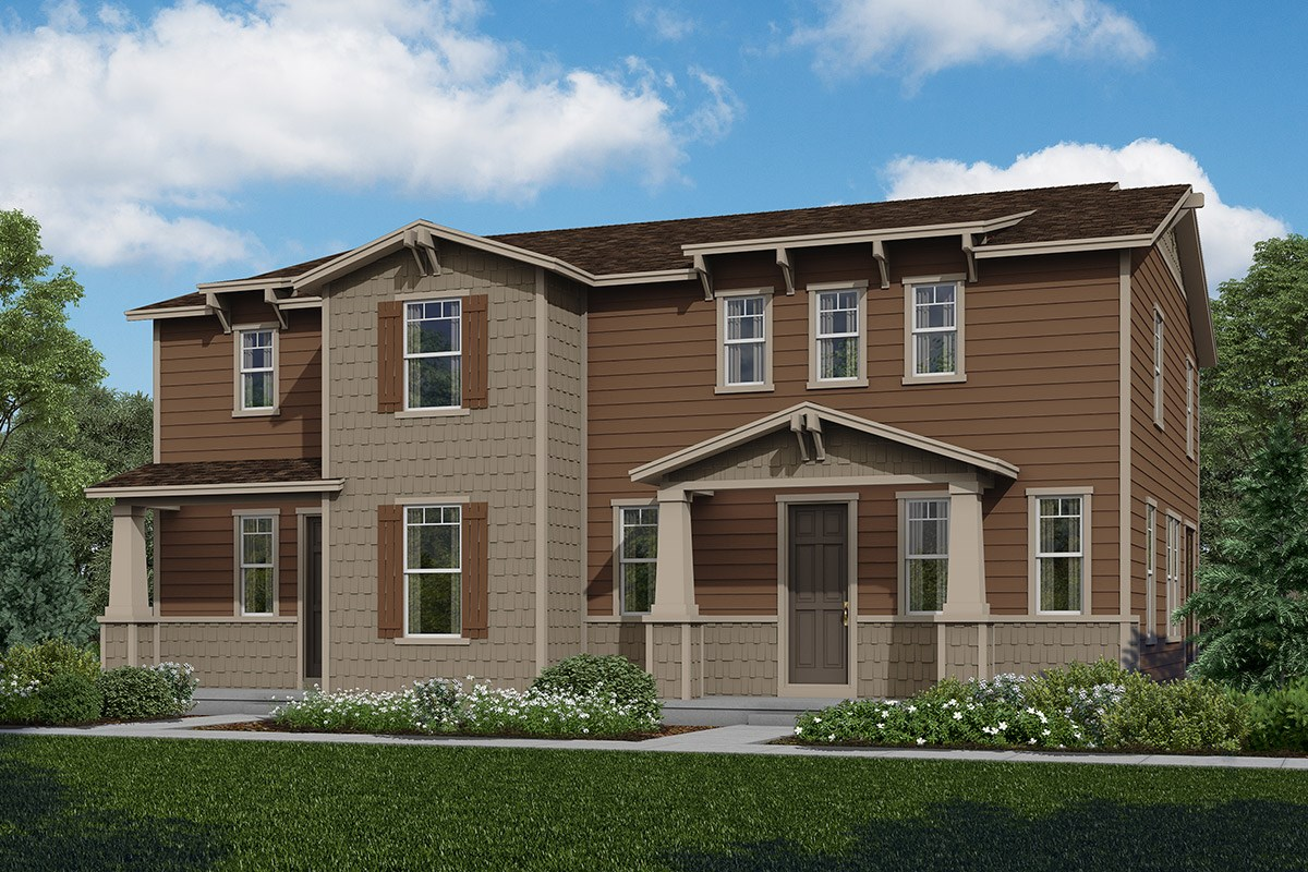 New Homes in Aurora, CO - The Villas at Copperleaf Walnut + Redwood