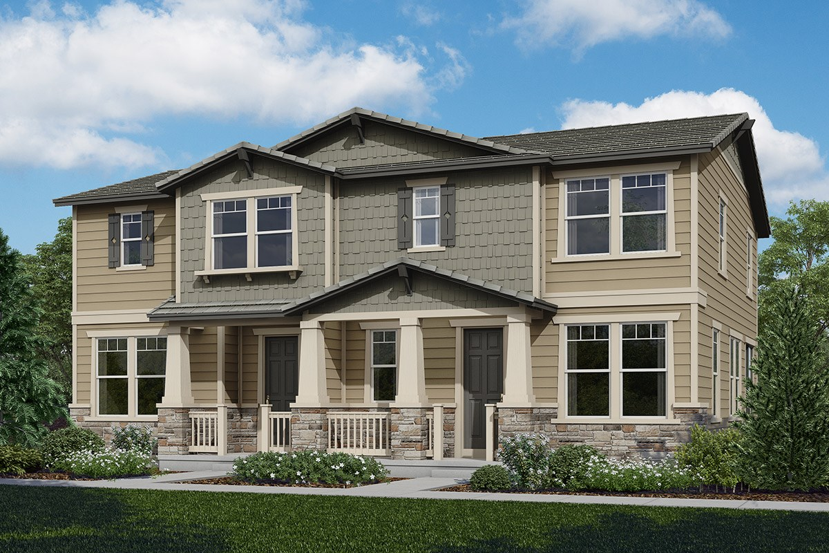 New Homes in Castle Rock, CO - The Villas at The Meadows Willow + Cypress Model Rendering