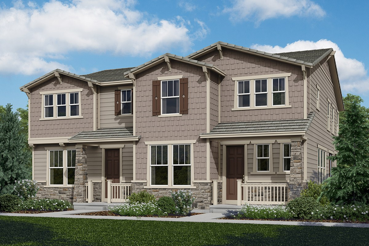 New Homes in Castle Rock, CO - The Villas at The Meadows Walnut & Willow Paired Homes