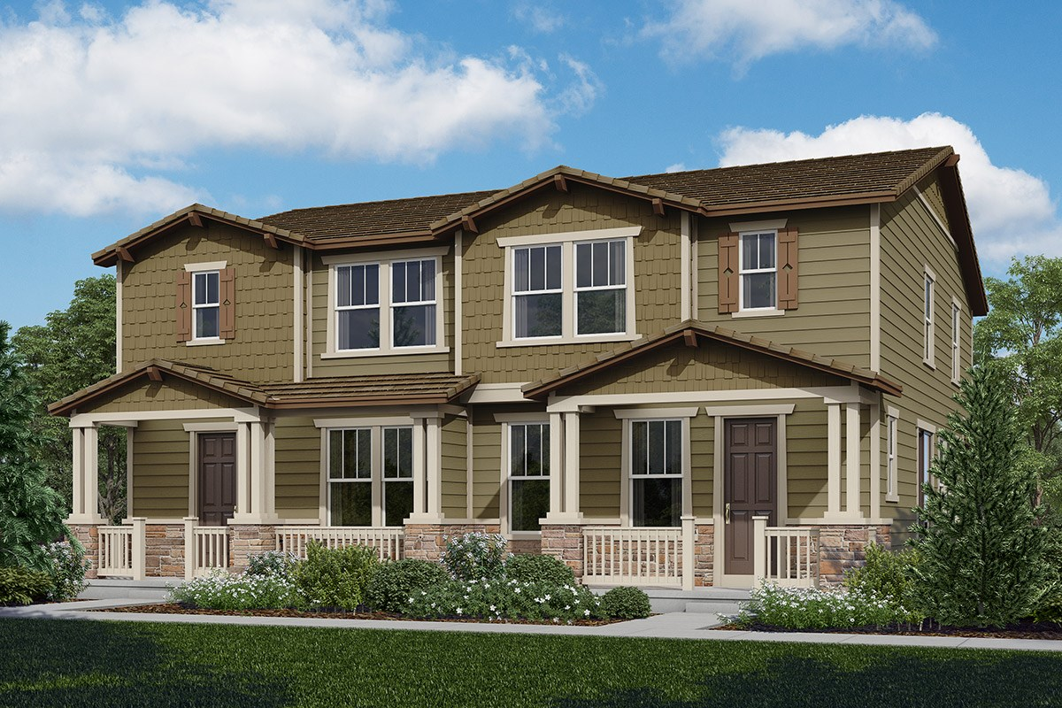 New Homes in Castle Rock, CO - The Villas at The Meadows Spruce + Spruce