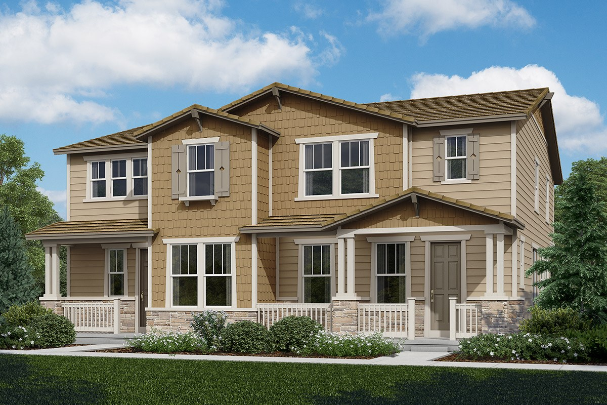 New Homes in Castle Rock, CO - The Villas at The Meadows Walnut + Spruce