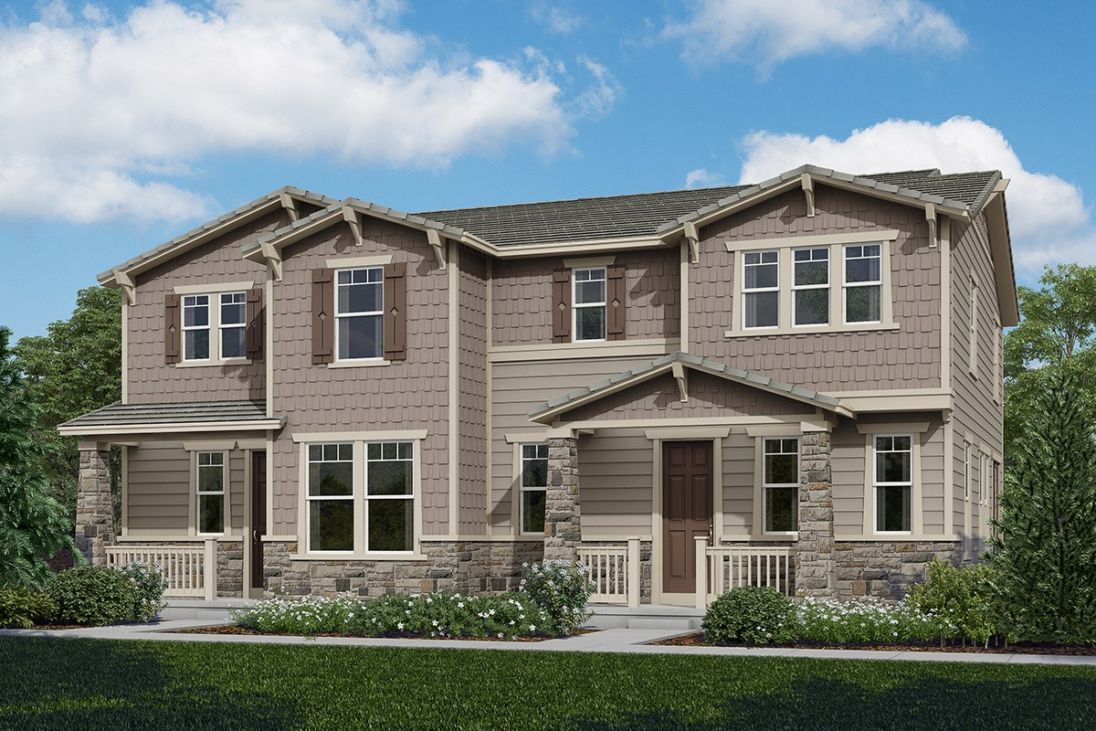 New Homes in Castle Rock, CO - The Villas at The Meadows Walnut + Redwood