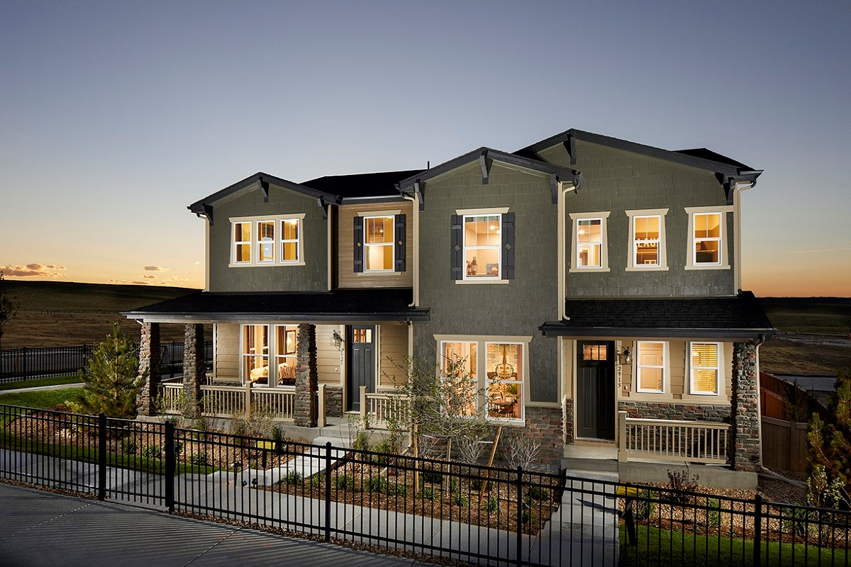 New Homes in Castle Rock, CO - Meadows Villas Walnut & Willow Paired Homes