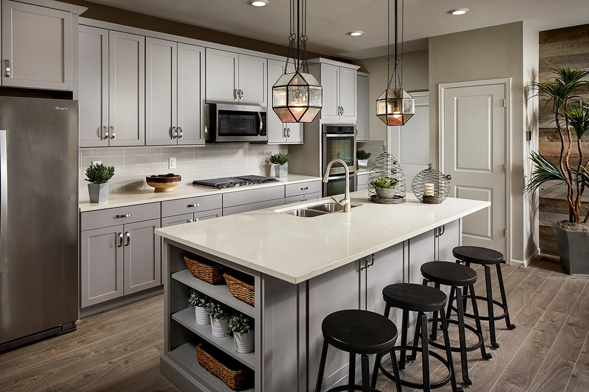 New Homes in Castle Rock, CO - The Villas at The Meadows Walnut Kitchen