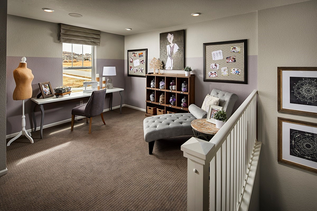 New Homes in Castle Rock, CO - Meadows Villas Walnut Loft - Hobby Room