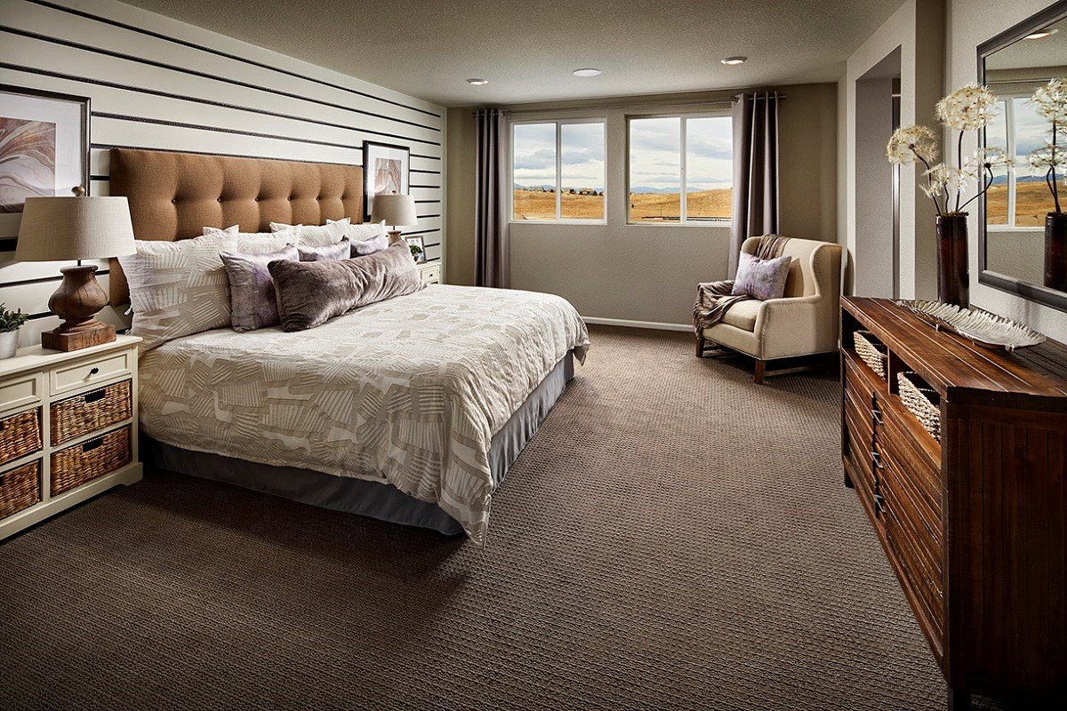New Homes in Castle Rock, CO - Meadows Villas Walnut Master Bedroom