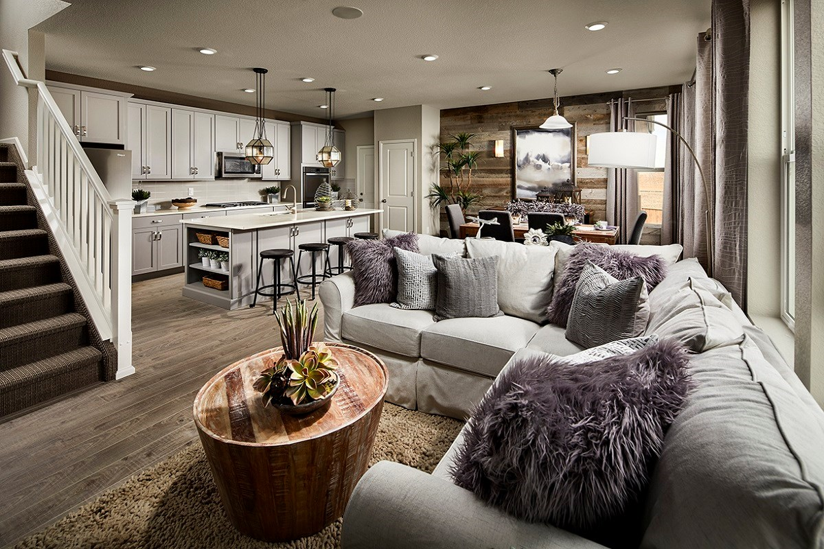 New Homes in Castle Rock, CO - Meadows Villas Walnut Great Room
