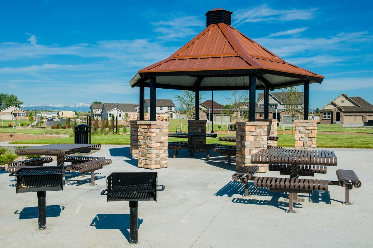 New Homes in Thornton, CO - Trailside Patio Homes Community park picnic area