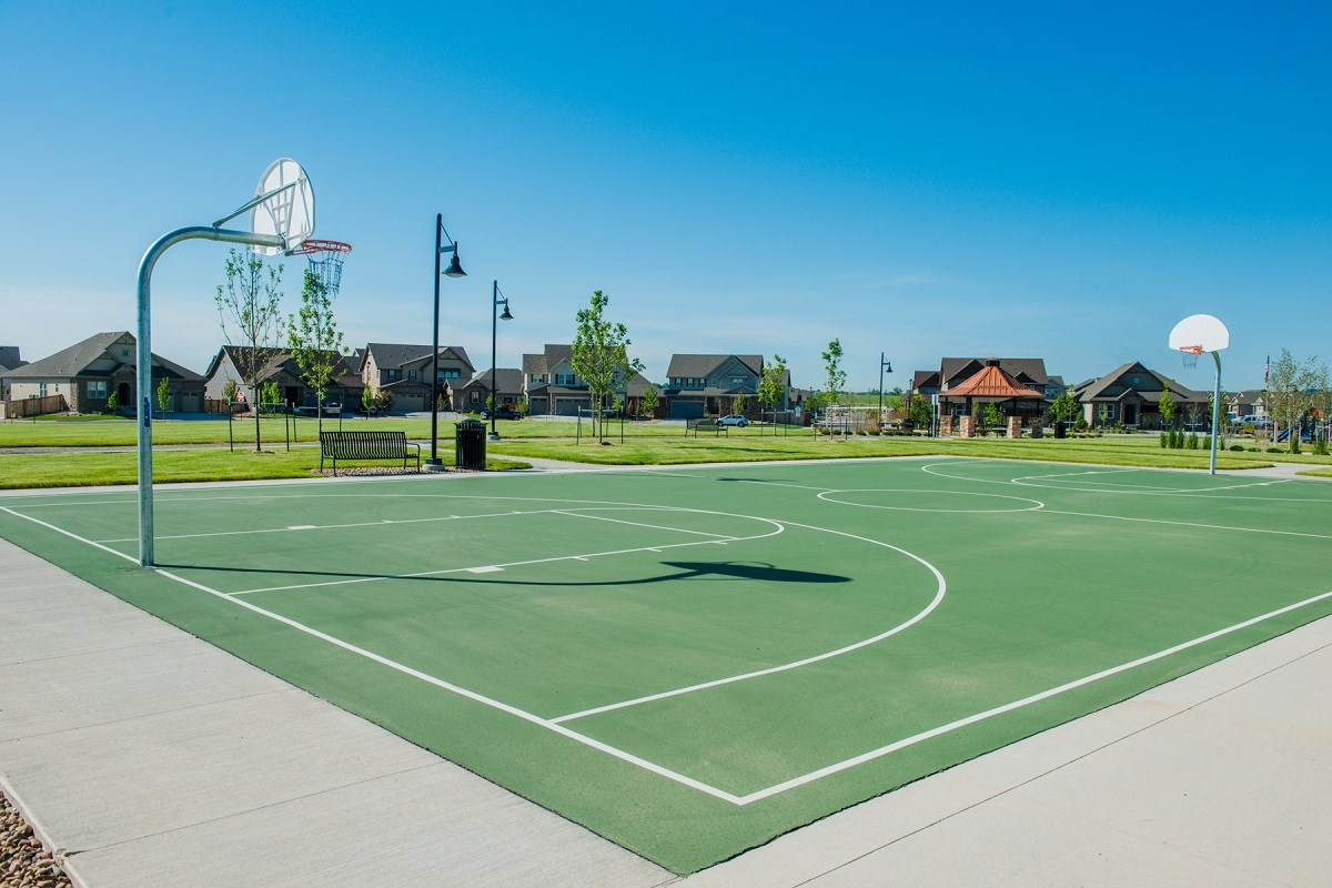 New Homes in Thornton, CO - The Reserve at Trailside Community Park Sports Court and Fields