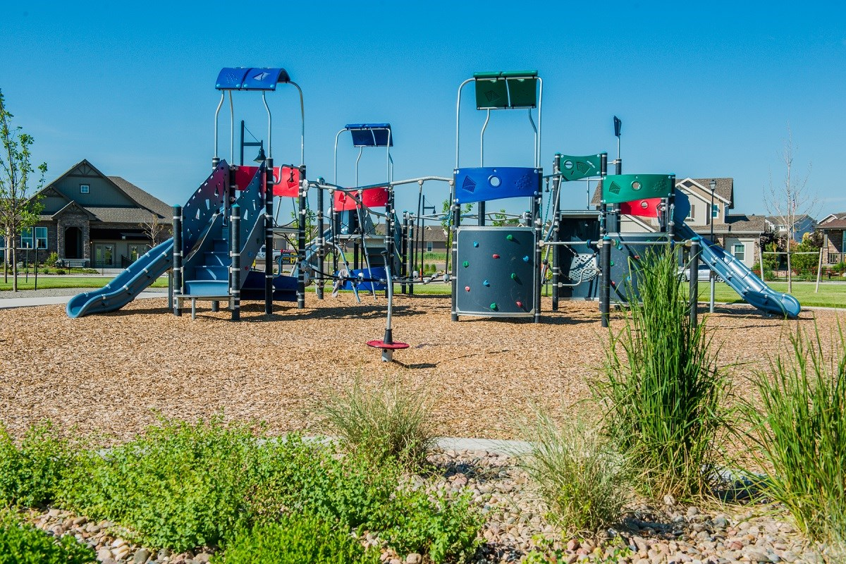 New Homes in Thornton, CO - The Reserve at Trailside Community Park Playground Area