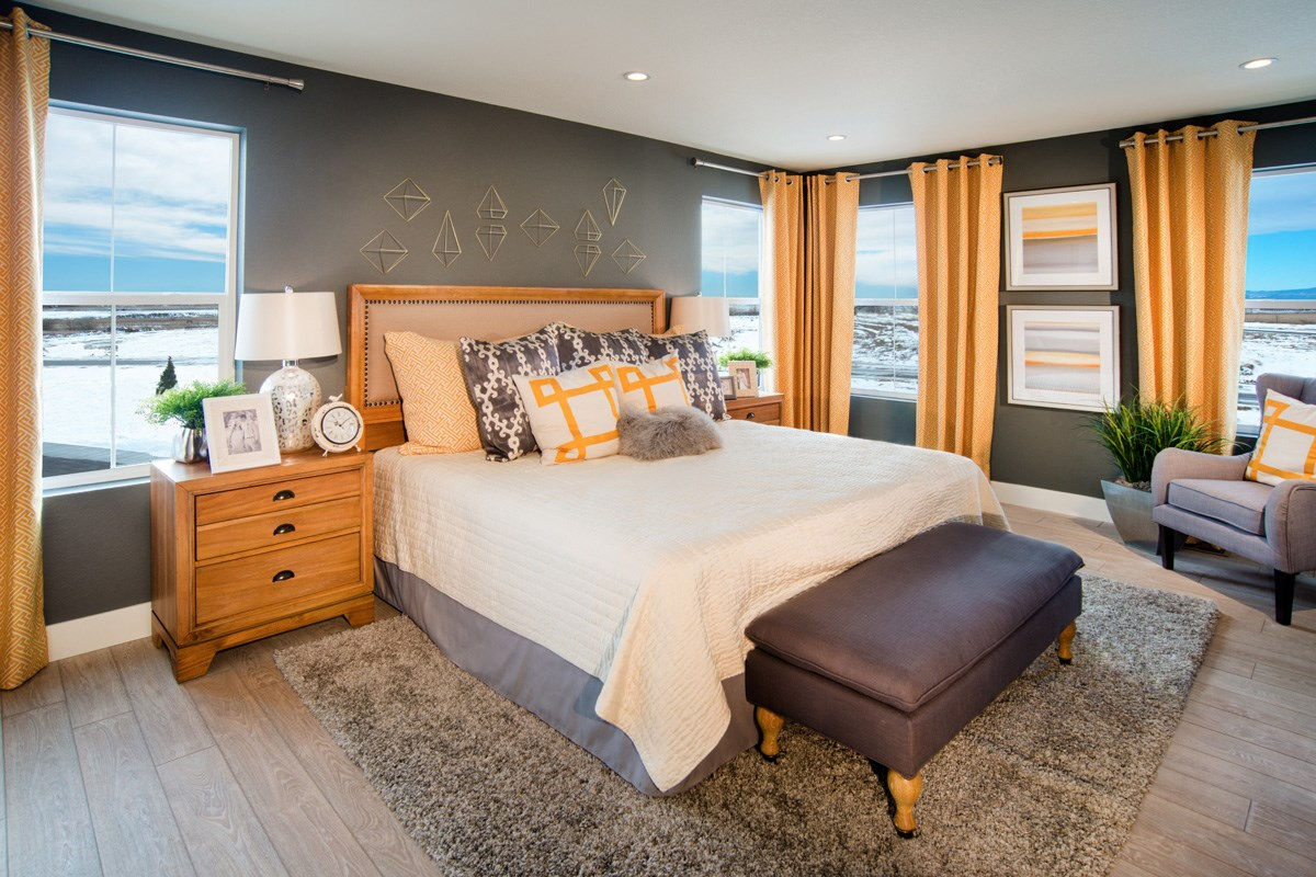 New Homes in Thornton, CO - The Reserve at Trailside Lafayette Master Bedroom