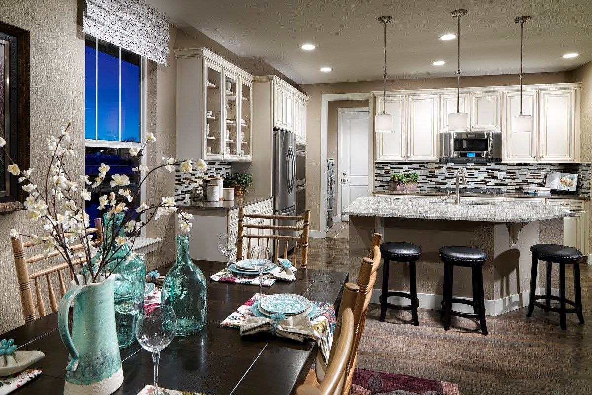 New Homes in Thornton, CO - Trailside Patio Homes Greenland Gourmet Kitchen and Dining Room