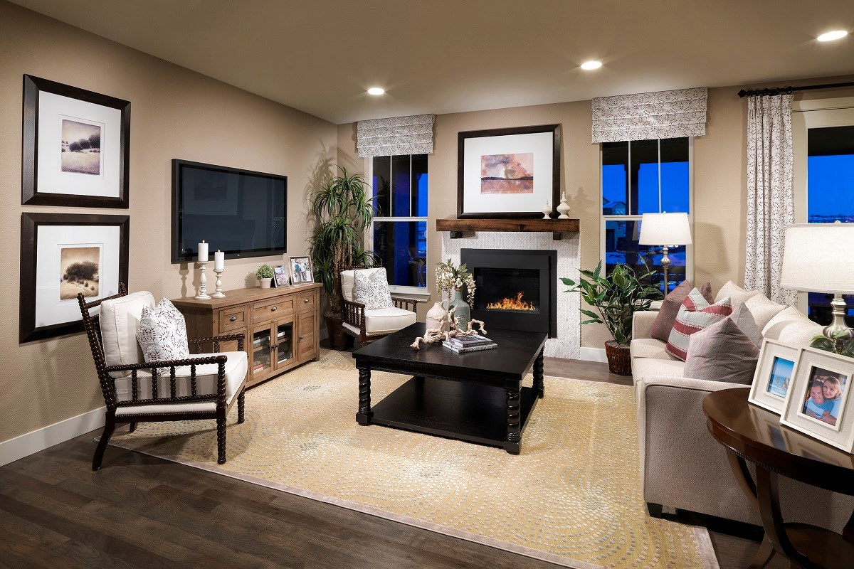 New Homes in Thornton, CO - Trailside Patio Homes Greenland Family Room