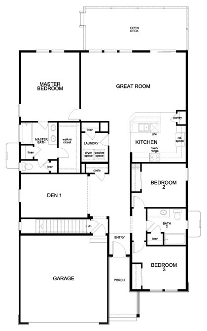 chaucer – new home floor plan in trailside patio homeskb home