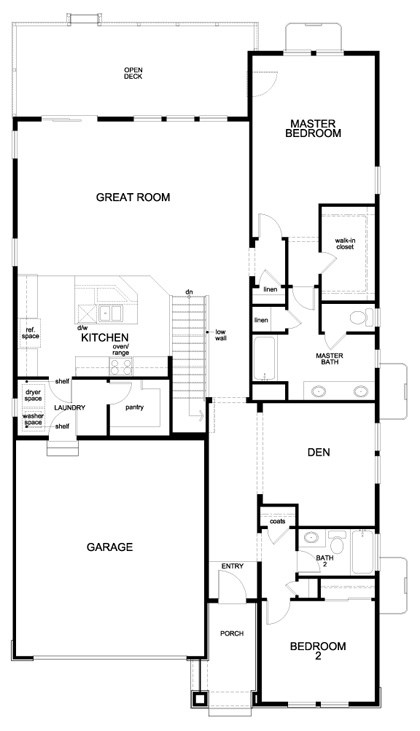 greenland modeled – new home floor plan in trailside patio homes