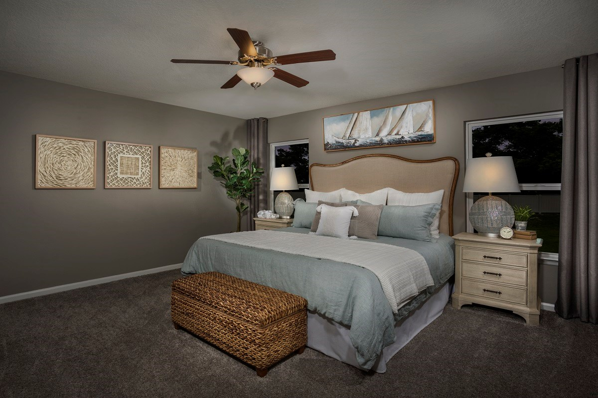 New Homes in Jacksonville, FL - Abbot Cove The Sullivan Master Bedroom
