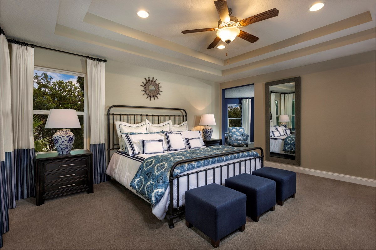New Homes in Clay County, FL - Angora Bay The Carrington Master Bedroom with Sitting Room