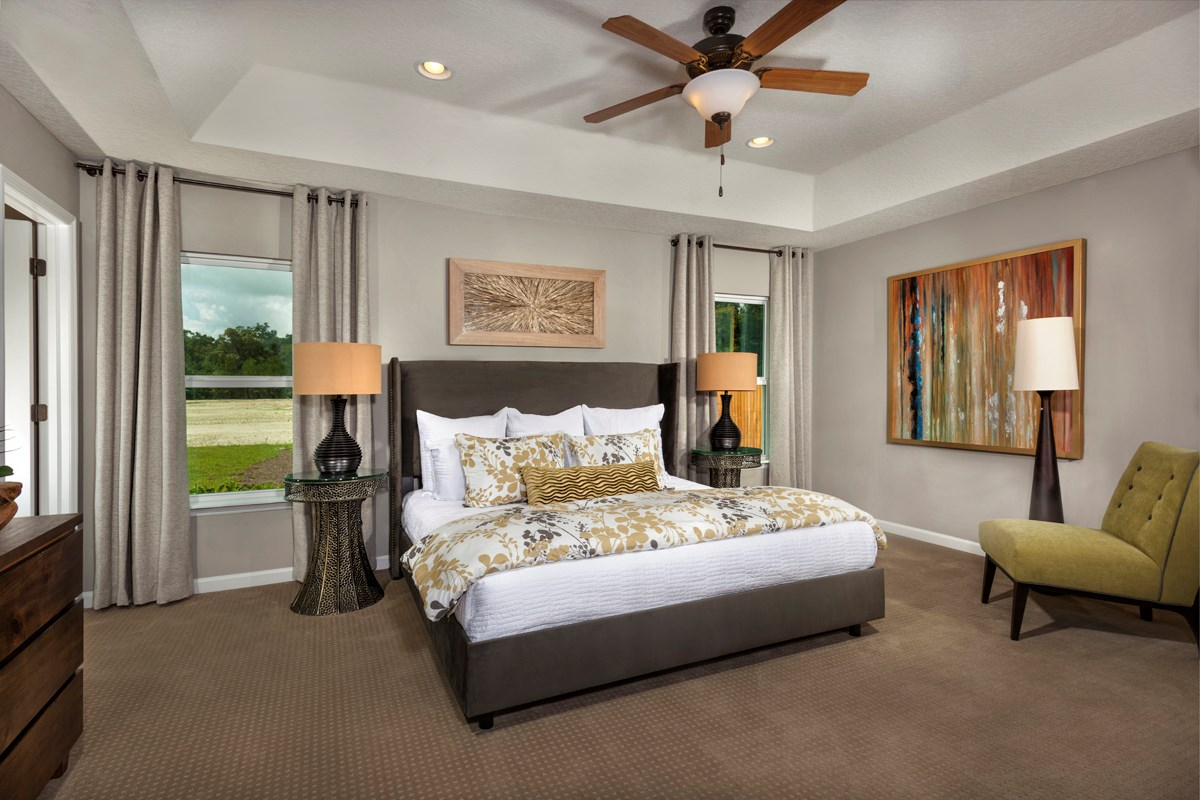 New Homes in Clay County, FL - Angora Bay The Hayden Master Bedroom