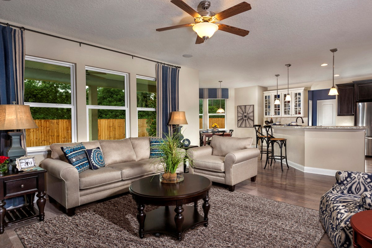 New Homes in Clay County, FL - Angora Bay The Carrington Great Room
