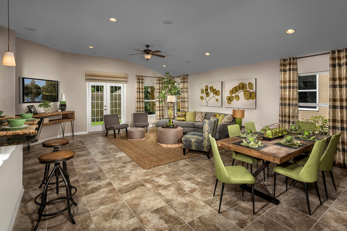 New Homes in Clay County, FL - Angora Bay The Hayden Great Room