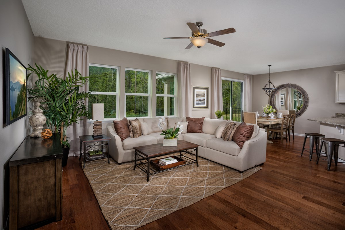 New Homes in Jacksonville, FL - Bartram Creek - Classic Series The Savannah Great Room