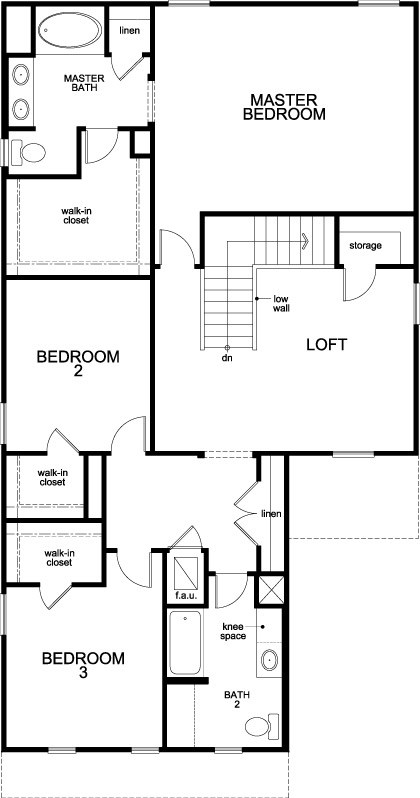 New Homes in Jacksonville, FL - The Miramar, Second Floor