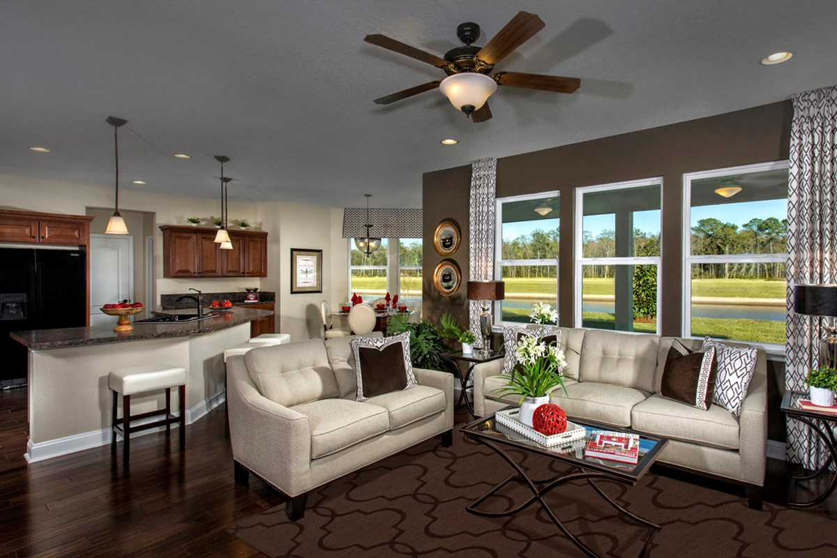 New Homes in Jacksonville, FL - Bartram Creek - Executive Series The Carrington Great Room