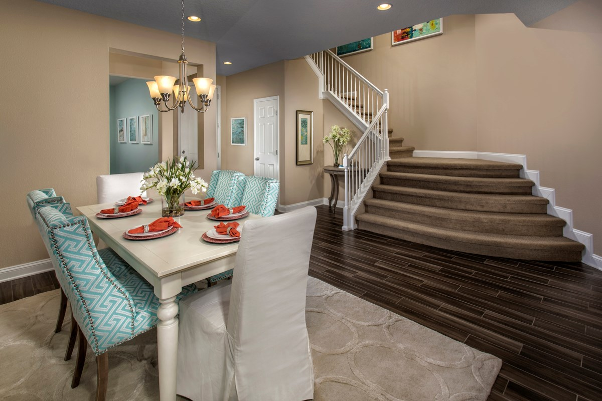 New Homes in Jacksonville, FL - Bartram Creek - Executive Series The Laurel Formal Dining & Radius Stairs