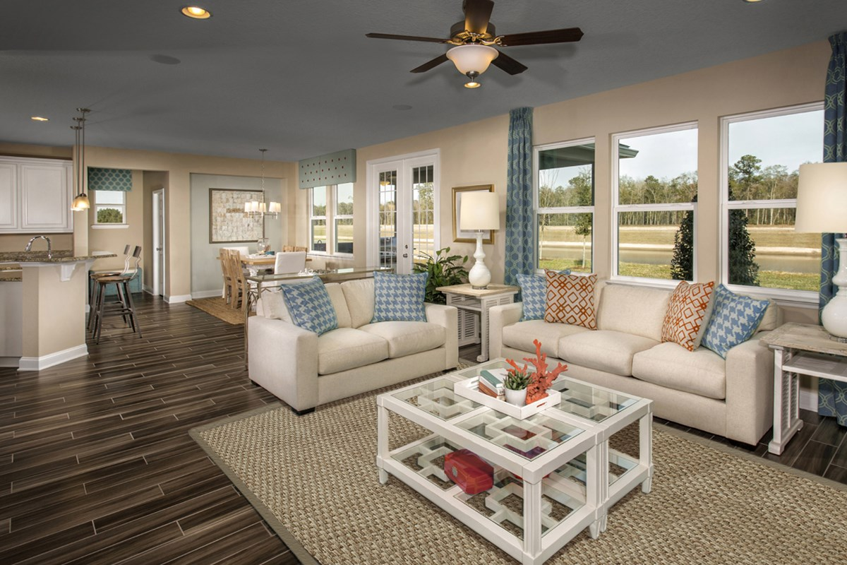New Homes in Jacksonville, FL - Bartram Creek - Executive Series The Laurel Great Room