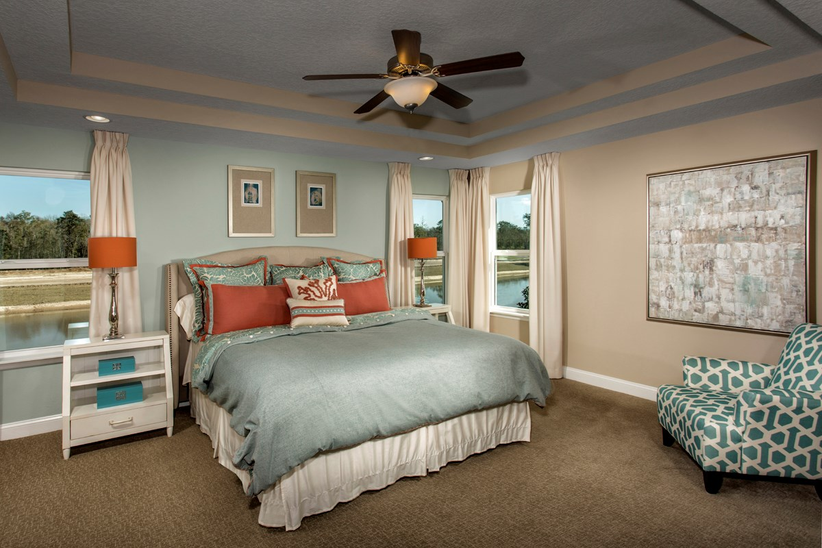 New Homes in Jacksonville, FL - Bartram Creek - Executive Series The Laurel Master Bedroom