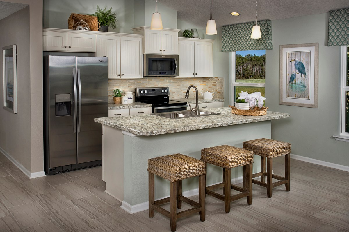 New Homes in Jacksonville, FL - Bartram Creek - Executive Series The Stockbridge Kitchen