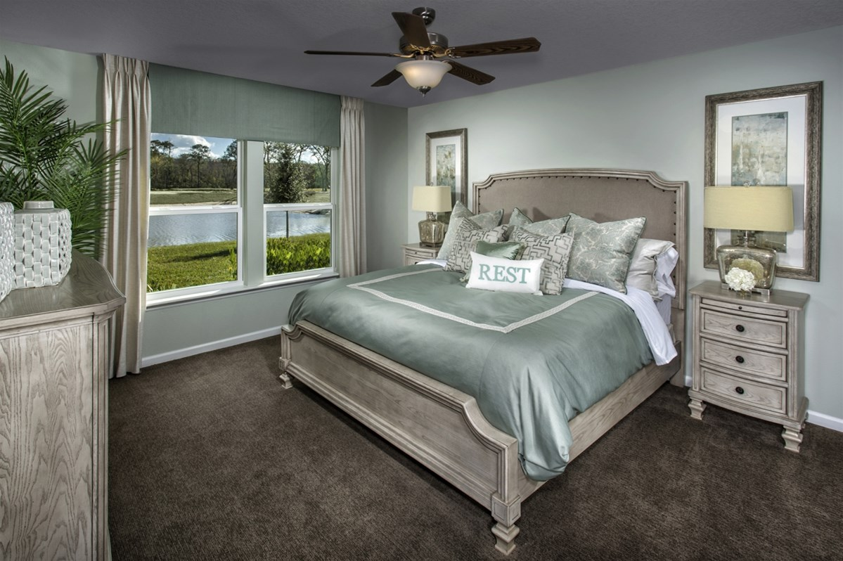 New Homes in Jacksonville, FL - Bartram Creek - Executive Series The Stockbridge Master Bedroom