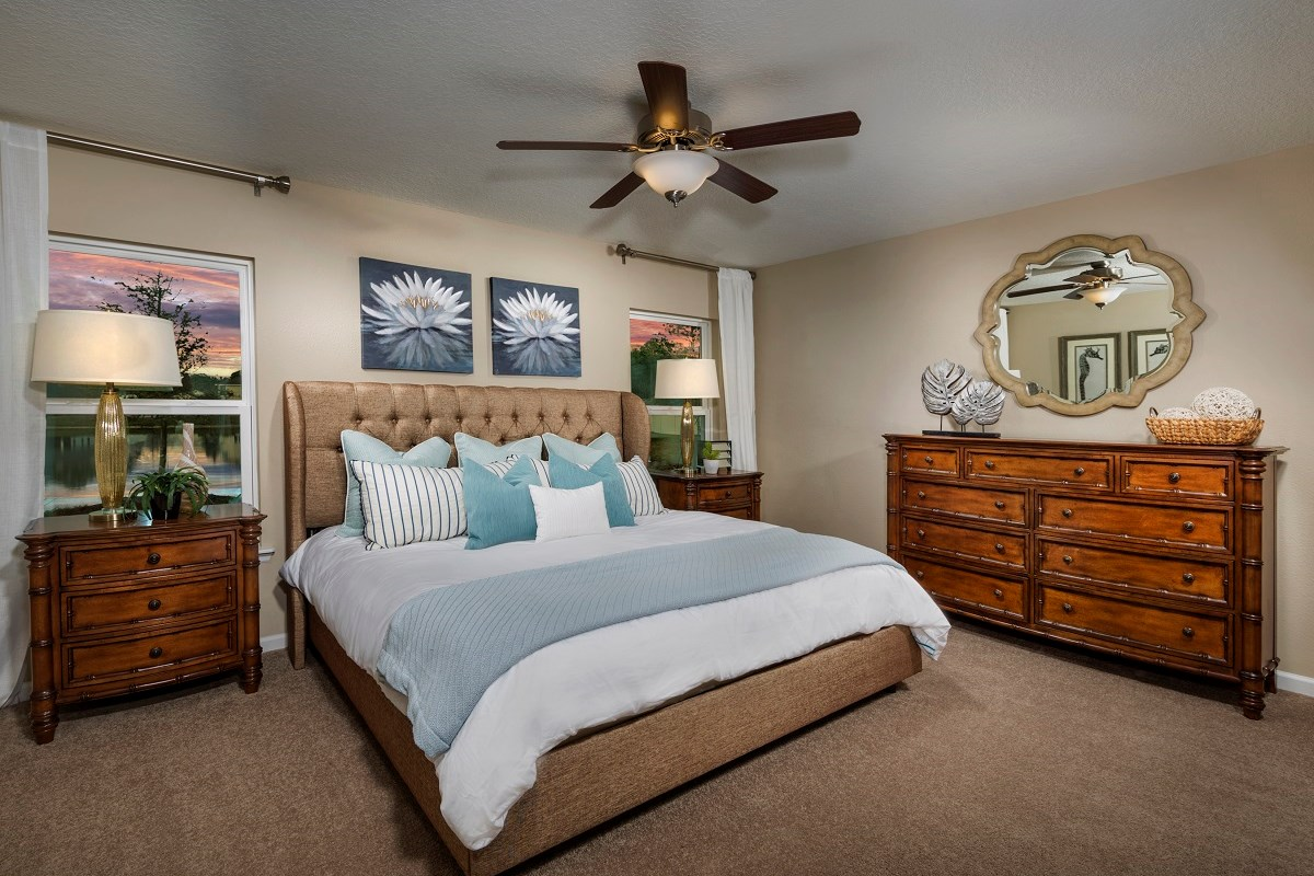 New Homes in St. Augustine, FL - Castine Cove The Darby Master Bedroom