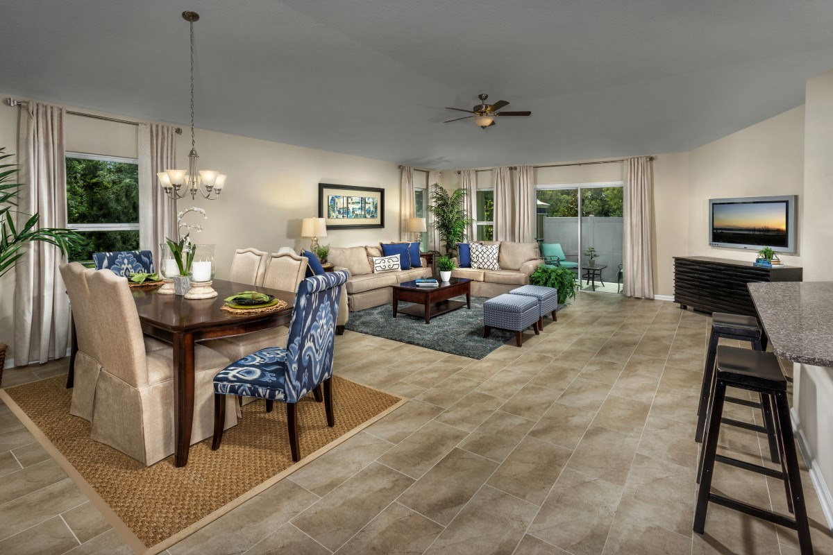 New Homes in Jacksonville, FL - Chandlers Crossing The Hayden Great Room