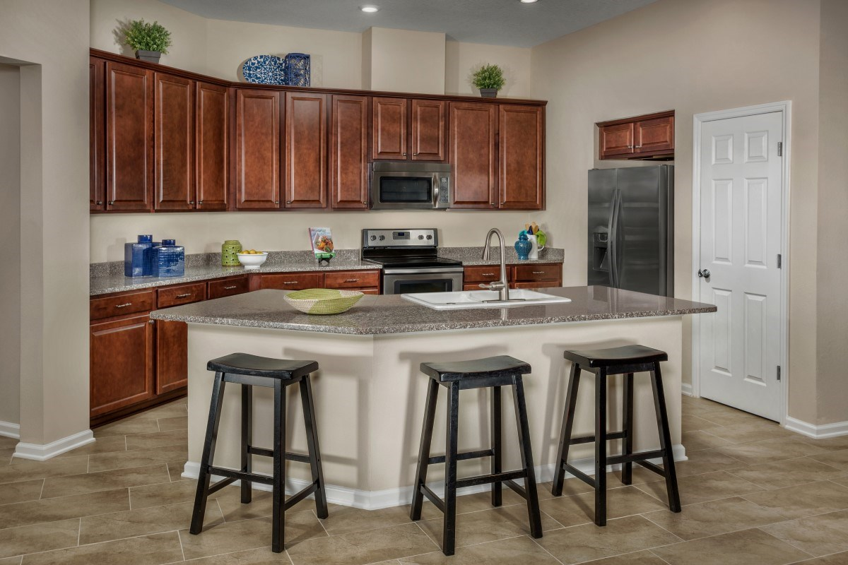 New Homes in Jacksonville, FL - Chandlers Crossing The Hayden Kitchen