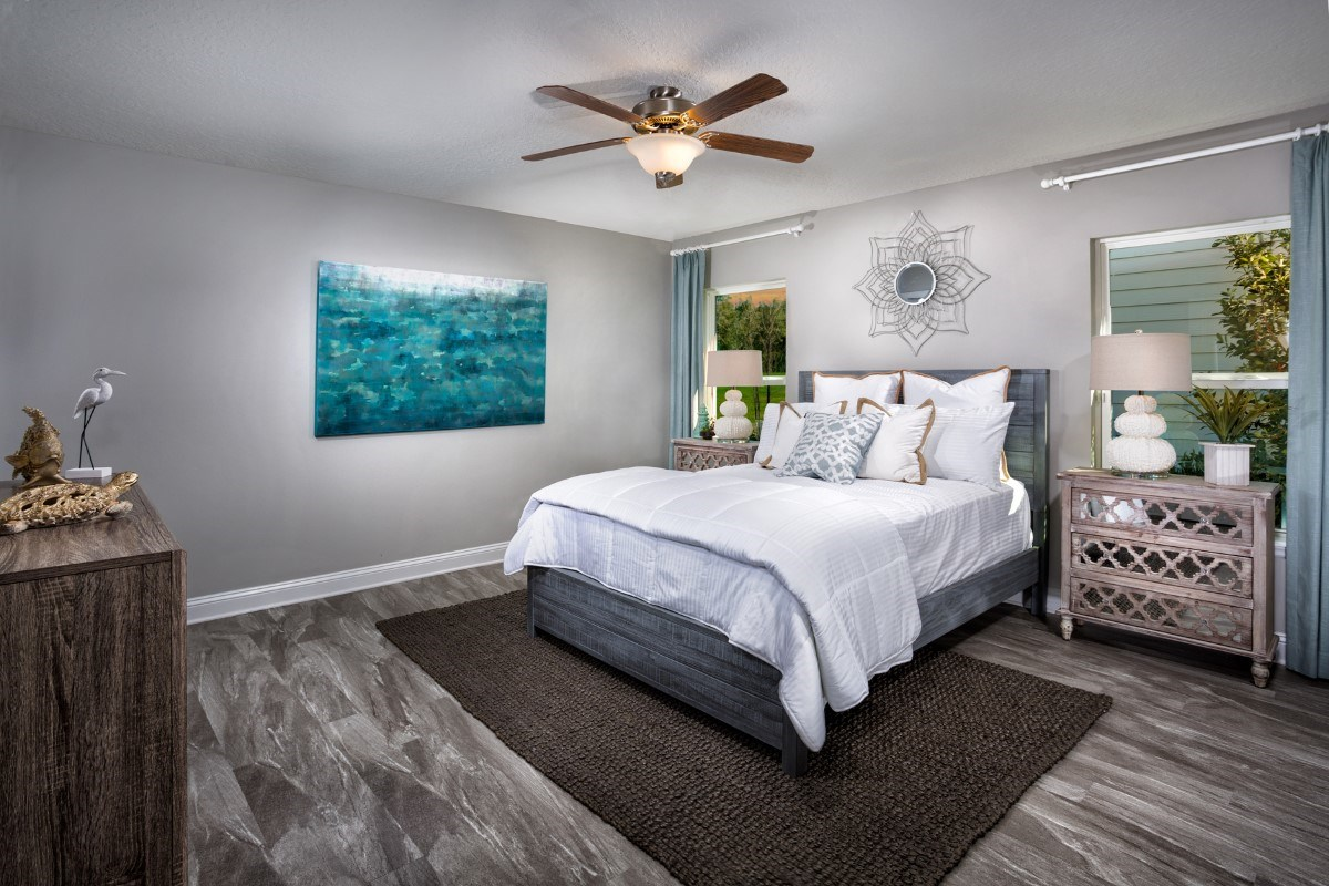 New Homes in Jacksonville, FL - Copperleaf The Captiva Master Bedroom