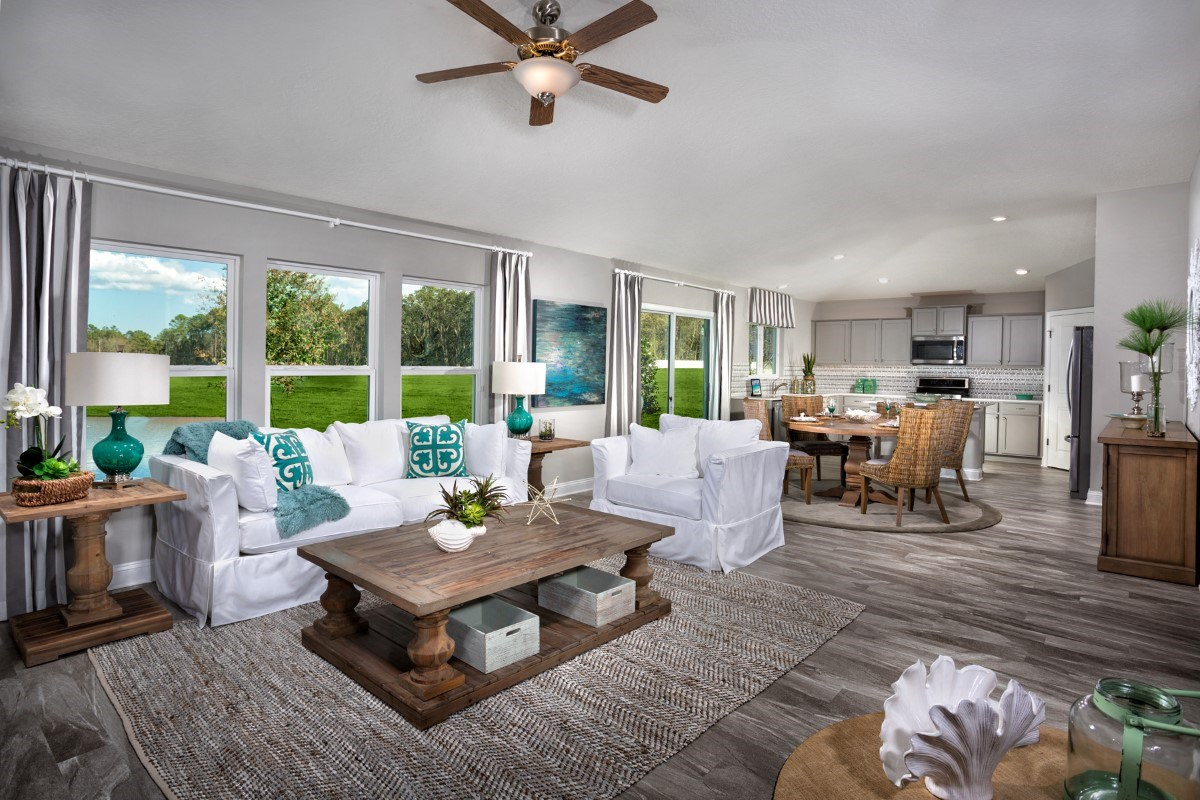 New Homes in Jacksonville, FL - Copperleaf The Captiva Great Room