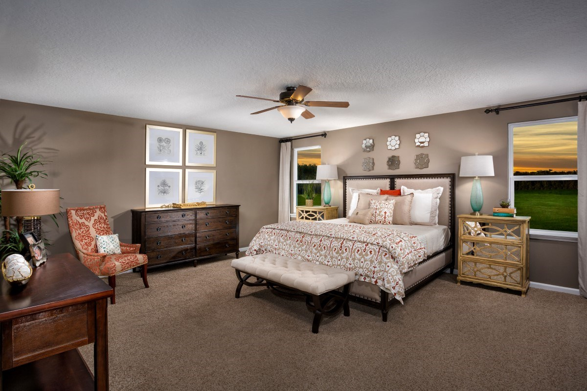 New Homes in Jacksonville, FL - Copperleaf The Camden Master Bedroom