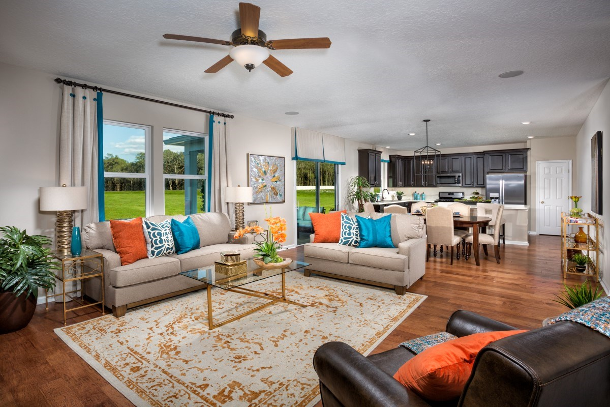 New Homes in Jacksonville, FL - Copperleaf The Camden Great Room