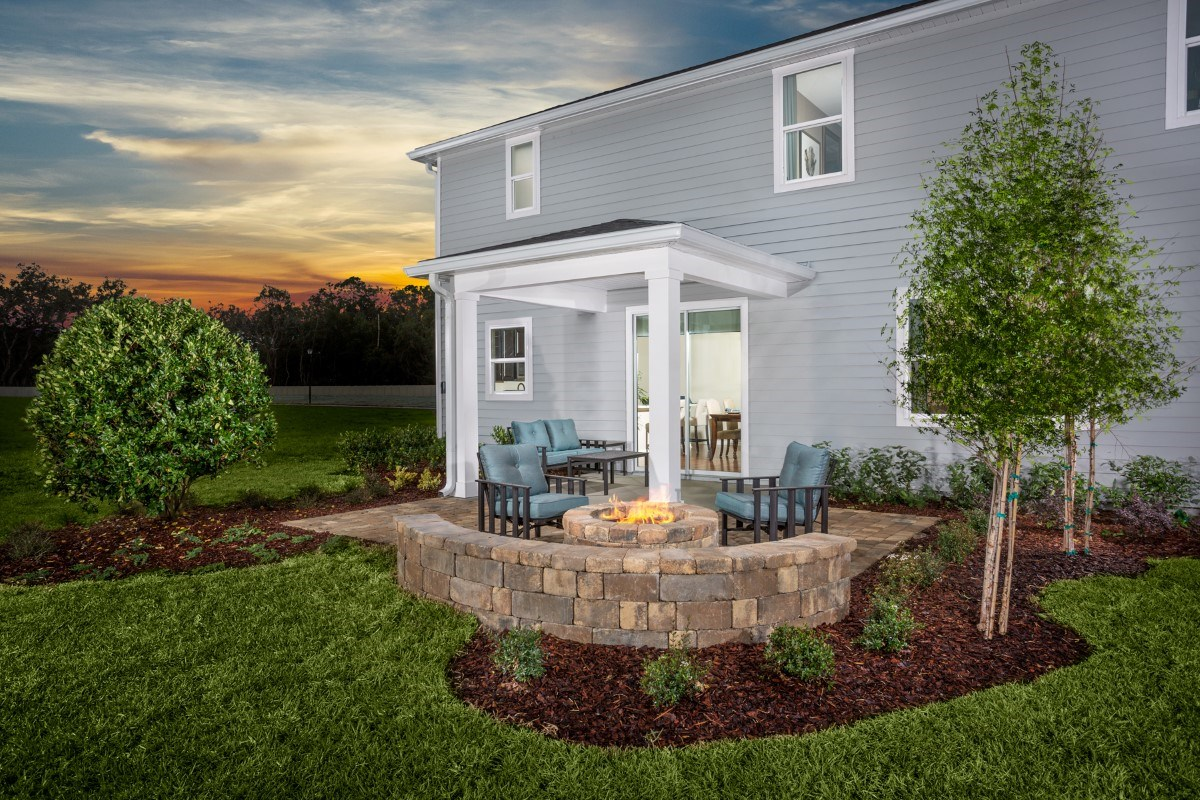 New Homes in Jacksonville, FL - Copperleaf The Camden Backyard