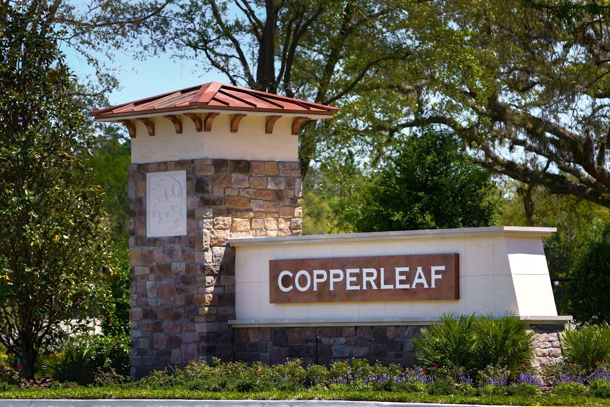 New Homes in Jacksonville, FL - Copperleaf Monument Entry Sign
