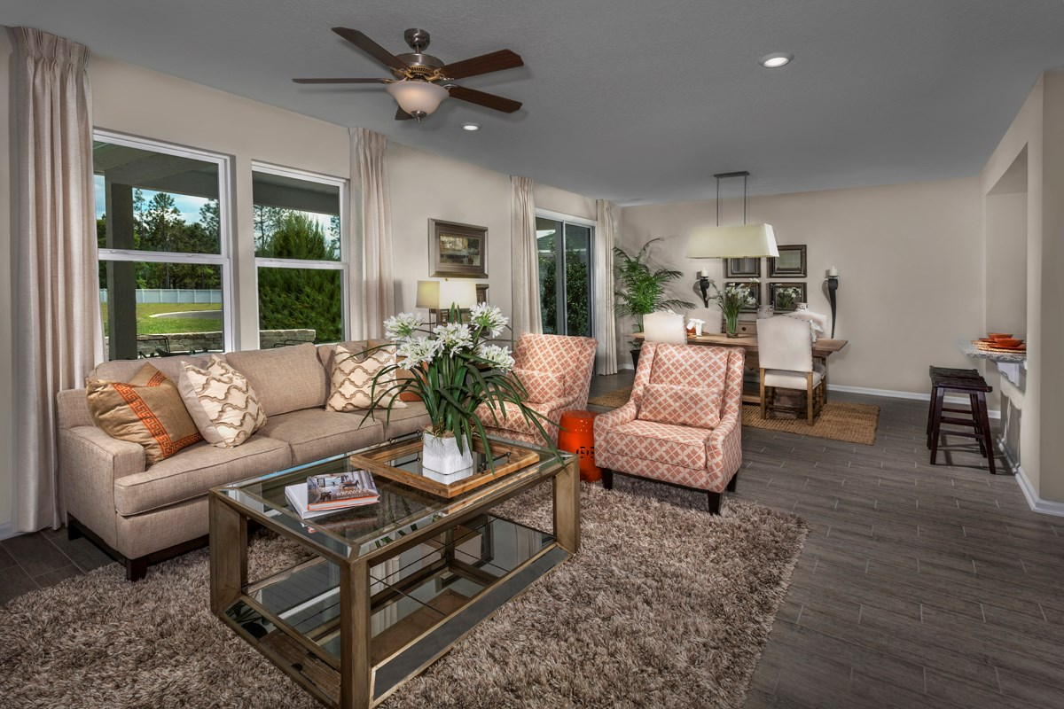 New Homes in Orange Park , FL - Forest Hammock at Oakleaf Plantation The Hawthorne Great Room