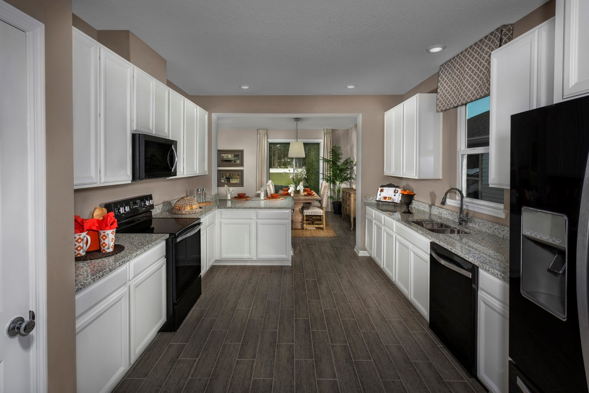 New Homes in Orange Park, FL - Forest Hammock at Oakleaf Plantation The Hawthorne Kitchen