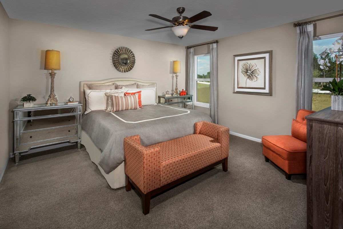 New Homes in Orange Park, FL - Forest Hammock at Oakleaf Plantation The Hawthorne Master Bedroom