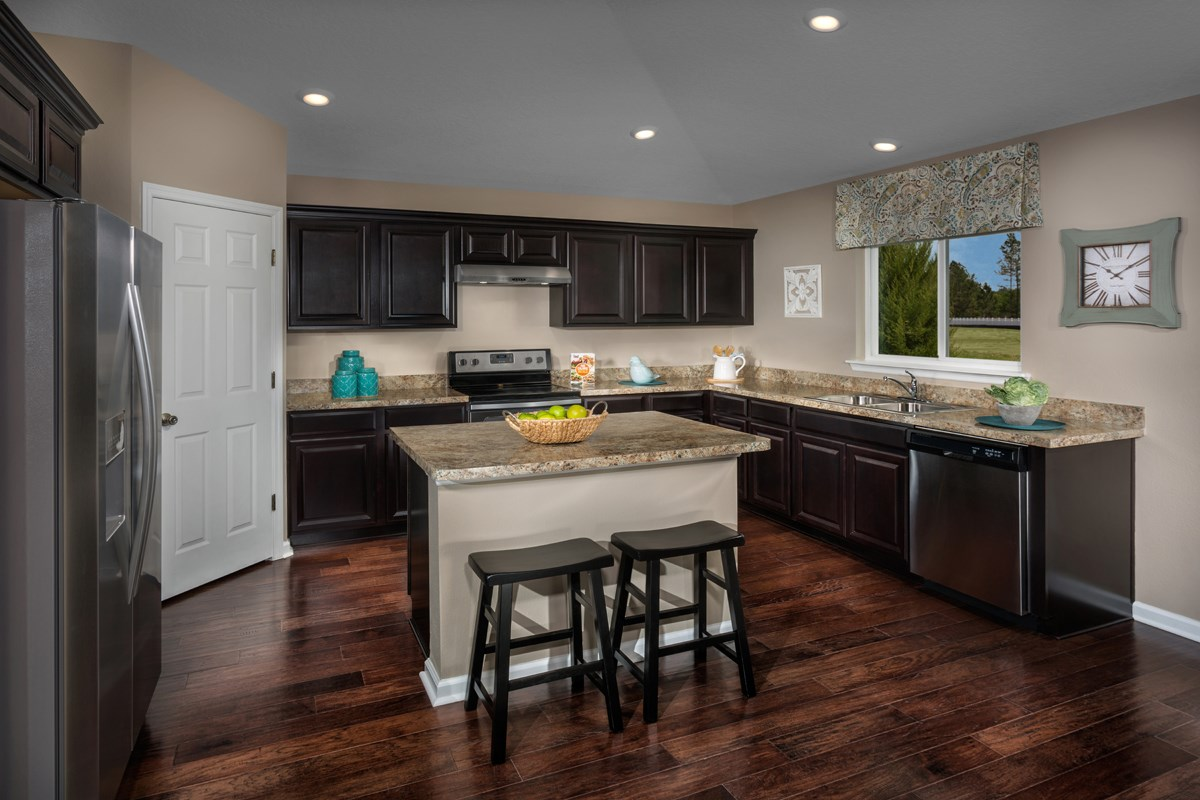 New Homes in Orange Park , FL - Forest Hammock at Oakleaf Plantation The Captiva Kitchen